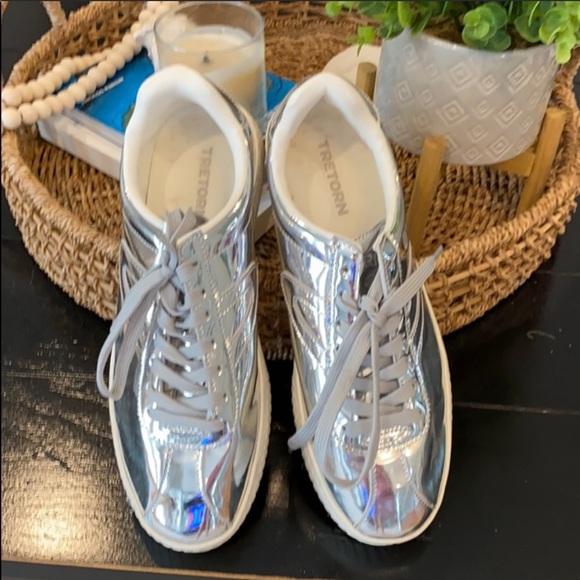 Tretorn Shoes | Silver Sneaker Mens 8
